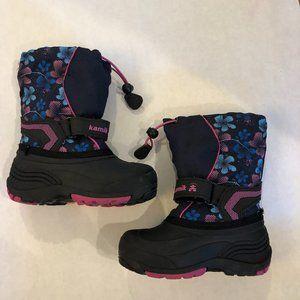 Kamik Blue Flower Girl Waterproof Snow Boots 10